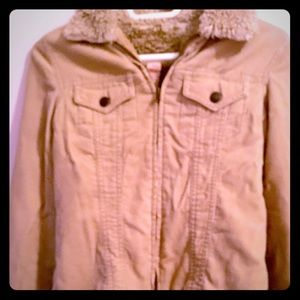 🍂🐿A&F Vintage Corduroy Button Zip Up Jacket🐿🍂